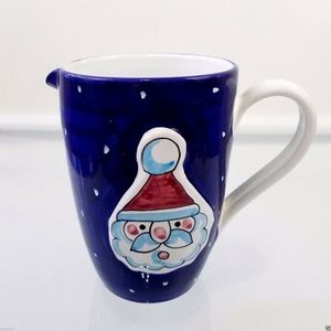 Santa Claus Christmas Pitcher Vintage Italy